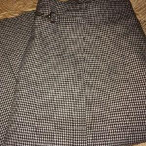 Black & White Patterned Pencil Skirt